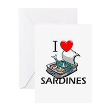 I Love Sardines Greeting Card