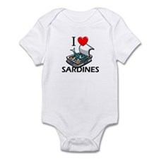 I Love Sardines Infant Bodysuit