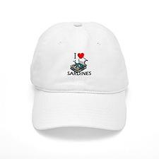 I Love Sardines Baseball Cap