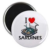 I Love Sardines 2.25&quot; Magnet (10 pack)