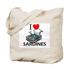 I Love Sardines Tote Bag