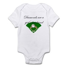 Diamonds are a girl's best fr Infant Bodysuit