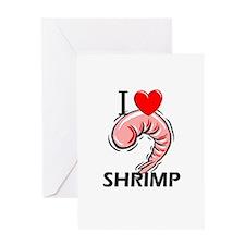 I Love Shrimp Greeting Card