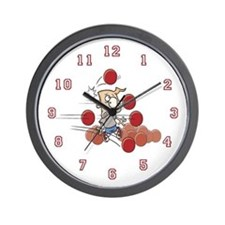 I love dodgeball Wall Clock