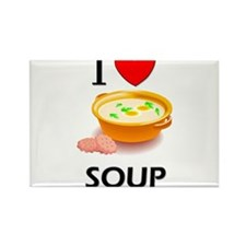 I Love Soup Rectangle Magnet