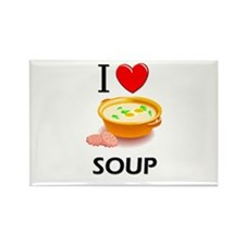 I Love Soup Rectangle Magnet (10 pack)