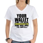 Your Wallet Women's V-Neck T-Shirt