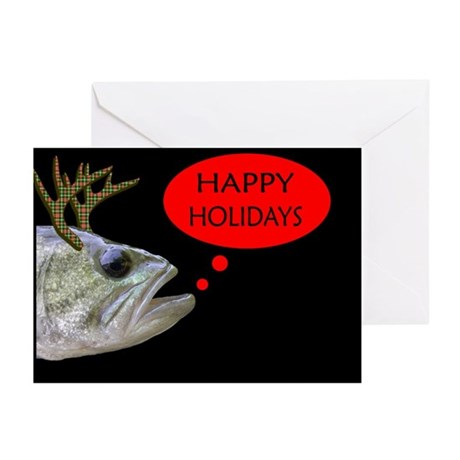 HAPPY HOLIDAYS BASS W/ANTLERS (Pk of 20)
