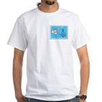 Stamp Collecting Mason White T-Shirt
