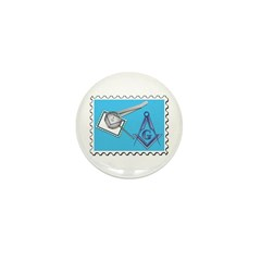 Stamp Collecting Mason Mini Button (10 pack)