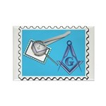 Stamp Collecting Mason Rectangle Magnet (100 pack)