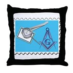Stamp Collecting Mason Throw Pillow