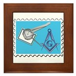 Stamp Collecting Mason Framed Tile
