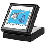 Stamp Collecting Mason Keepsake Box