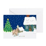 Christmas Lights Chowchow Greeting Cards (Pk of 10