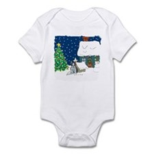 Christmas Lights Boston Terrier Infant Bodysuit