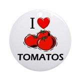 I Love Tomatos Ornament (Round)