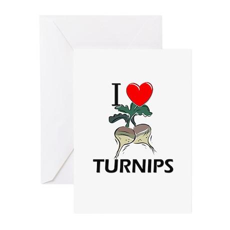 I Love Turnips Greeting Cards (Pk of 10)
