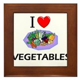 I Love Vegetables Framed Tile
