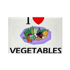 I Love Vegetables Rectangle Magnet