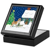 Christmas Lights Beagle Keepsake Box
