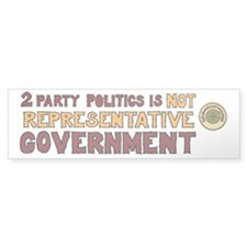 Two Party Politics Bumper Sticker