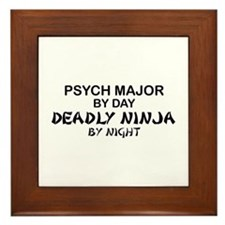 Psych Major Deadly Ninja by Night Framed Tile