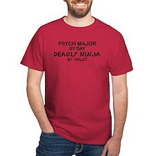 Psych Major Deadly Ninja by Night T-Shirt