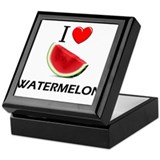 I Love Watermelon Keepsake Box