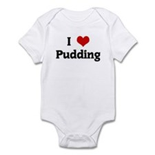 I Love Pudding Onesie