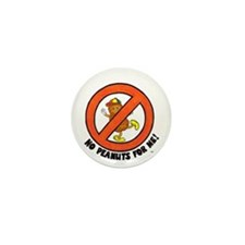"""No Peanuts For Me!"" Mini Button (10 pac"