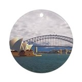 Sydney harbour bridge Round Ornaments