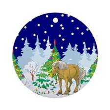 Christmas Lights Belgian Ornament (Round)
