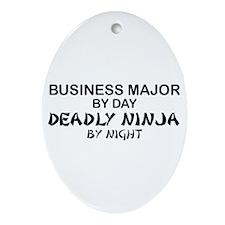 Business Major Deadly Ninja by Night Ornament (Ova