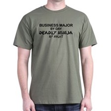 Business Major Deadly Ninja by Night T-Shirt