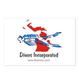 Divers Incorporated Postcards (Package of 8)