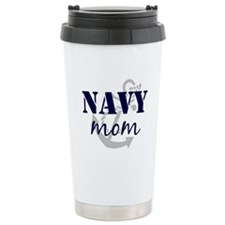 Navy Mom Ceramic Travel Mug