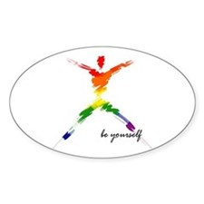 Gay Pride - Be Yourself Oval Decal