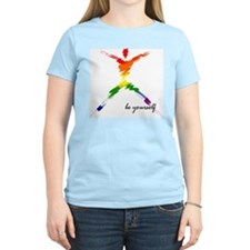 Gay Pride - Be Yourself Women's Pink T-Shirt