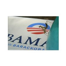 Praying Mantises For Obama Rectangle Magnet (10 pa