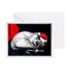 Sleeping Santa Claws Greeting Cards (Pk of 10)