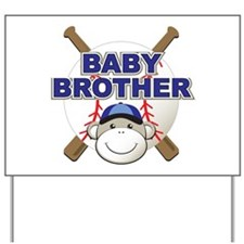 Baby Brother Baseball Yard Sign