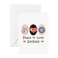 Peace Love Archery Greeting Card