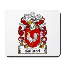 Gallucci Family Crest Mousepad