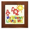My Mommy Loves Me (Chicks) Framed Tile