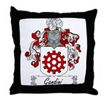 Gandini Family Crest Throw Pillow