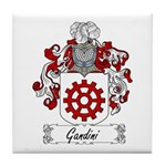 Gandini Family Crest Tile Coaster