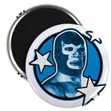 Blue Demon Round Magnet
