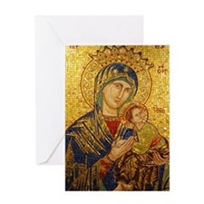 Our Lady of Perpetual Help Greeting Card - Blank
