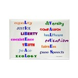 Liberal Moral Values Defined Rectangle Magnet